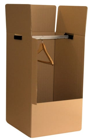 carton penderie petit format pour v tements 50cm x 50cm x 100cm a d m nage. Black Bedroom Furniture Sets. Home Design Ideas